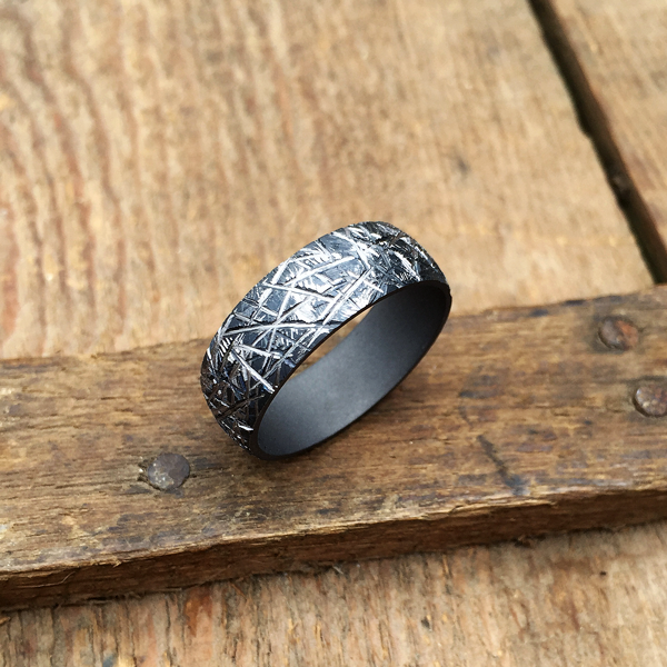 Textured Tantalum ring. 7.5-8.5mm wide. $990 + shipping - all sizes.